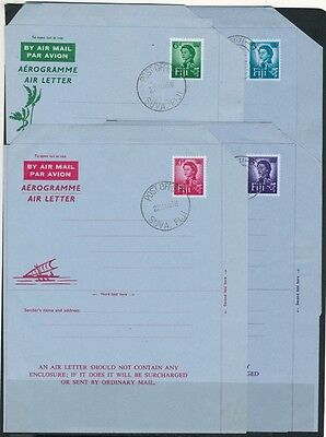 FIJI  -  POSTAL HISTORY - AEROGRAMME Air Letter - 4 very clean USED