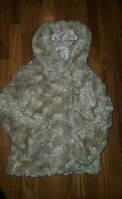 Girls M&s Autograph Fur Coat Age 9/10 Years