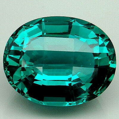 Surprising!!! 20.3ct. Paraiba Green Apatite Oval&Fancy Table