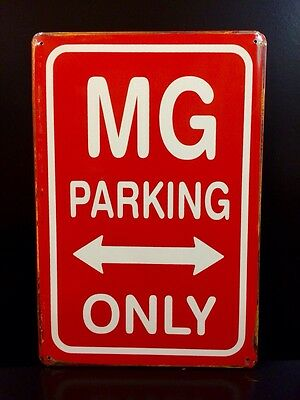 MG Parking Only Metal Sign / Vintage Garage Wall Decor (30 x 20cm)