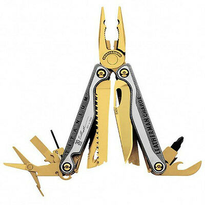 "Leatherman ""CHARGE® TTI"" in 24Karat GOLD, Limitierte Edition"
