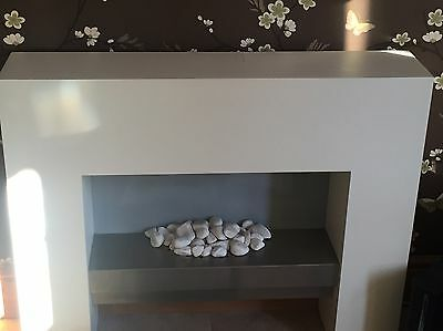 Modern Electric Fire And Surround With Pebbles