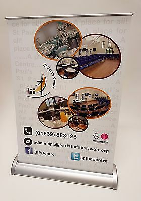 A4  / A3 Table Desktop Pull Up Retractable Banner - Printed with stand
