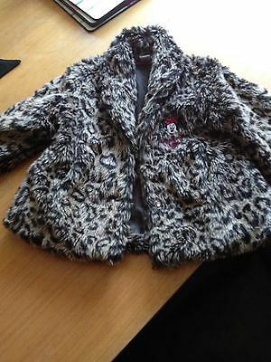 Disney Minnie Mouse Leopard Print Fur Coat Age 4-5