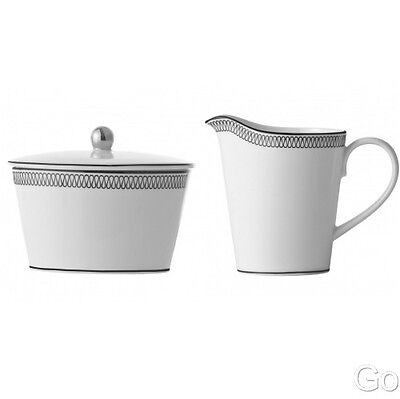 WATERFORD MONIQUE LHUILLIER OPULENCE Creamer & Sugar Bowl w/lid New With Tags