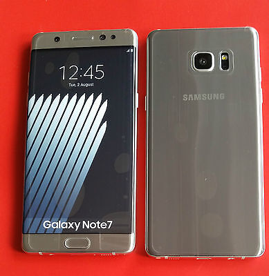 Samsung Galaxy Note 7 in Silber Handy DUMMY Attrappe - Modell, Deko, Requisit