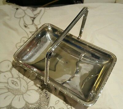 Antique Silver Plated Bread Cake Bon Bon Table Serving Dish /Tray