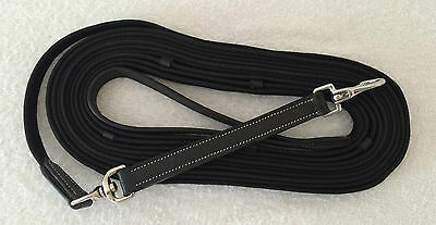 LEATHER LUNGING REIN/ROLE WEB REIN ROPE LUNGE LINE TRAINING LEARNING TEACHING 8m
