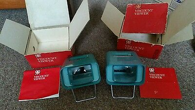 Two Vintage Patterson Viscount 2 x 2 Slide Viewer Boxed
