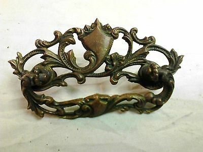 Vintage Victorian Style Single Drawer Pull Cast Brass