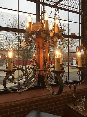 Gorgeous Antique  Gothic 12 lights IRON Chandelier
