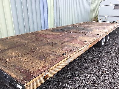 Twin Axle 22ft Flat Bed Trailer
