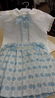 girls spanish skirt & blouse set by pretty originals bnwt poly/cott mix  5 yr