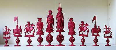 Large Antique Chinese Export Chess Set K=175mm