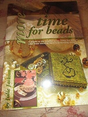 More Time for Beads project book, make items, pictures, jewellery, in V.G.C