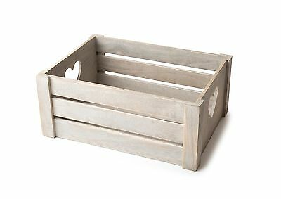 The Ashfield Crate - Wood, Vintage, Empty Gift Basket, Box, Hearts - In 3 Sizes
