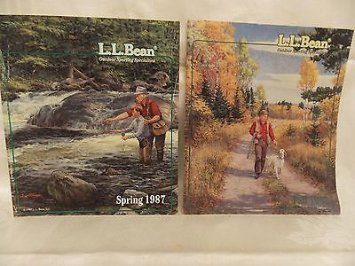 2 L.L. Bean Christmas Catalogs-Spring & Fall 1987-Covers by L. Stroncek