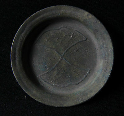 British Medieval Bronze Votive Bowl,Dish with images 1300-1500 AD