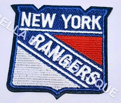 1 Embroidery Applique Ice Hockey New York Rangers Iron On Sew On Patch Clothes