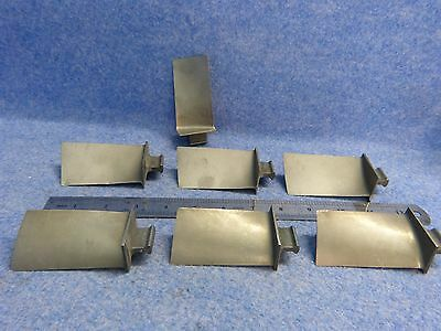 Lot of 7 Scrap Titanium Turbine Engine Blades only for collectors/art