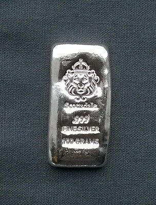 SCOTTSDALE 100g Mini SILVER Lion head investment Bar 999.9 Special Delivery GIFT