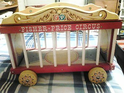 Vtg Fisher Price Little People Big Performing Circus Wagon SEEMS TO BE COMPLETE