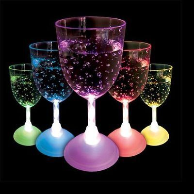 Colour Changing Strobing Led Wine Glass Light Up Plastic Glass Perfect Party