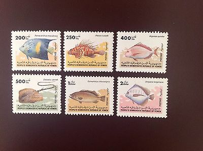 Yemen 1985 Fishes 200f to 2d SG335-40 MH