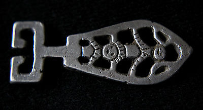 Viking Silver Strap End with Gods-Odin and Freya image 800-1100 AD