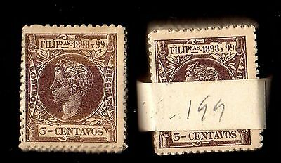 Stamps ~ PHILIPPINES 100 x SAME DESIGN 1898-99 ~ #199