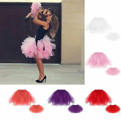 Family Clothing Mother&Daughter Mesh Tutu Dress Women Kid Princess Bubble Skirt