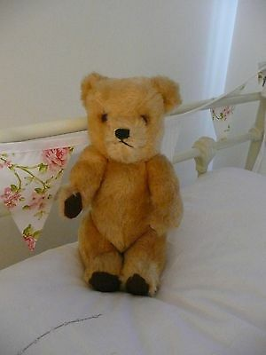 Deans Vintage 1960s Golden Teddy Bear With Bell In Ear