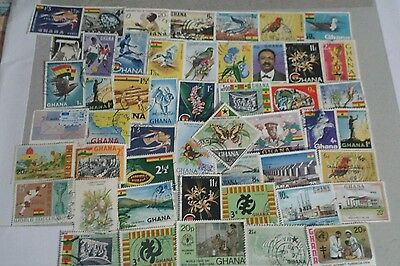 50 different Ghana stamps collection. Photos show exact lot..