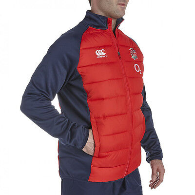 Canterbury Mens England Rose Embroidered Rugby Hybrid Padded Jacket