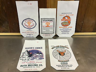 Vintage Roth Milling Co. - Prospect,pa - Asssorted Flour Bags