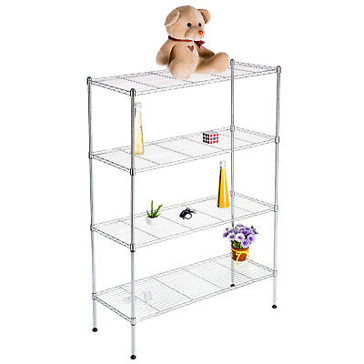 "4 Tier 55""x36""x14""  Wire Shelving Rack Chrome Steel Shelf Adjustable"