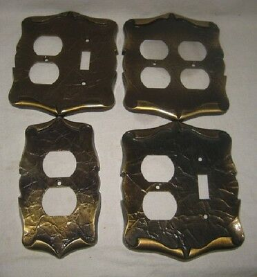 Vintage Fancy/Ornate All-Brass Electric Switch/Outlet Faceplates/Covers