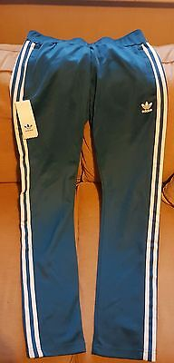 Adidas originals women's Europa track pants, teal, size 10