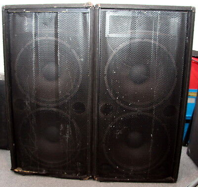 Pair of large 8 ohm Cabinet Speakers - DJ, Disco or band.