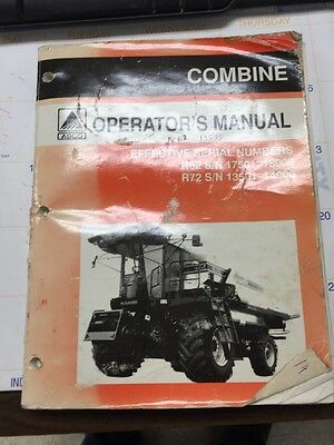 Gleaner Combine Operator's manual R62,R72