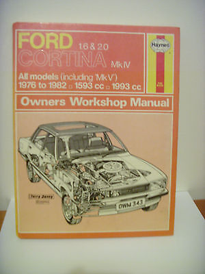 Ford Cortina workshop manual 1976 to 1982