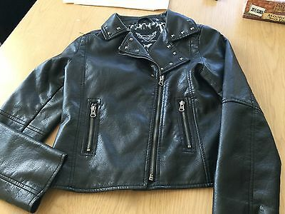 Black Polyurethane Jacket Young DIMENSIONS By Primark Age 10-11
