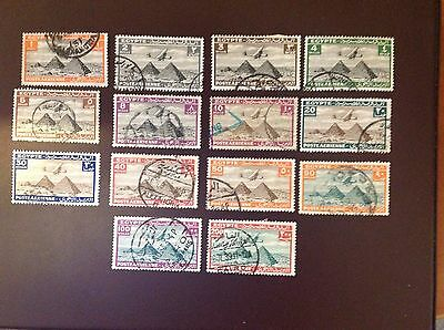 Egypt 1933 Air Most Values to 200m Used Odd Fault
