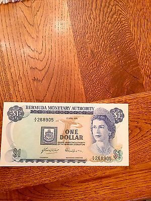 Bermuda Banknote 1 dollar 1978 unc excellent condition