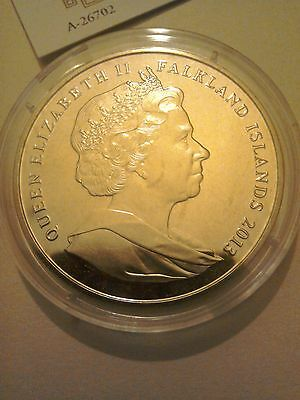 One 1 Crown Coin Falkland Islands