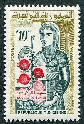 TUNISIA 1959 10m red, green and bistre SG487 mint MH FG #W1