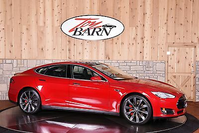 2013 Tesla Model S P85+ 4-door Sedan Tesla Model S P85+ Performance 46k mi Tech pkg Pano sunroof $119k MSRP 416hp Red