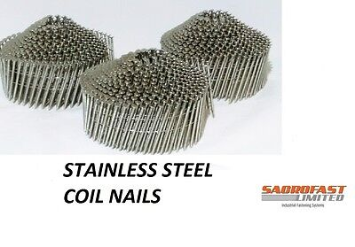 Stainless Steel 2.1 Diameter Conical Wire Collated Coil Nails - 3 Coils