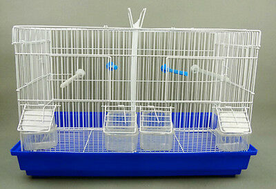 USED DELUXE Double Metal /white or BlueTry Breeding Cages + 2 Nest Boxes
