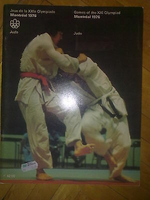 Programme Olympic Games Montreal 1976 JUDO